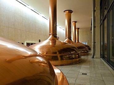 Copper vats, Binding brewery, Frankfurt, Hesse, Germany, Europe