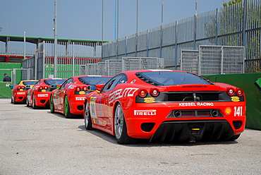 Ferrari cars, Ferrari Challenge at the Misano World Circuit, Italy, Europe