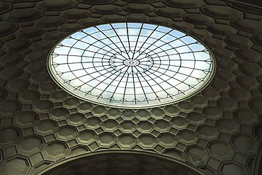 Light dome, cupola, Ludwig-Maximilians-Universitaet university, 1840, Geschwister-Scholl-Platz 1, Munich, Bavaria, Germany, Europe
