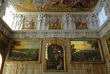 Viktoriensaal hall, New Schleissheim Palace, 1719 - 1726, Max-Emanuel-Platz square 1, Oberschleissheim, Bavaria, Germany, Europe