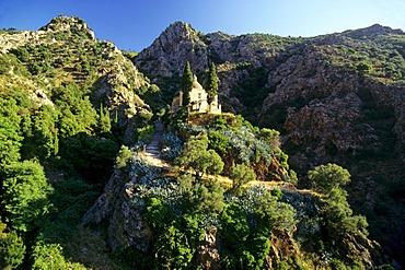 Madonna di Montserrat pilgrimage church, hill, island of Elba, Tuscany, Italy, Europe