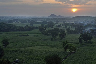 Monsoon near Devigarh, near Udaipur, Rajasthan, India, Asia