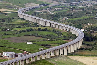 Highway at Alcamo, Sicily, southern Italy, Italy, Europe