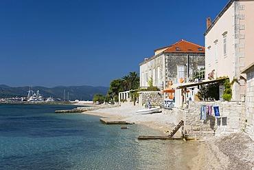 Captains' Houses by the sea, Orebic, Pejesac Peninsula, Dalmatia, Croatia, Europe