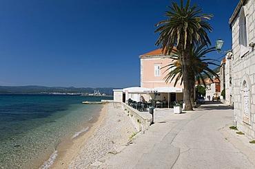 Beach in the village of Orebic, Peljesac Peninsula, Dalmatia, Croatia, Europe