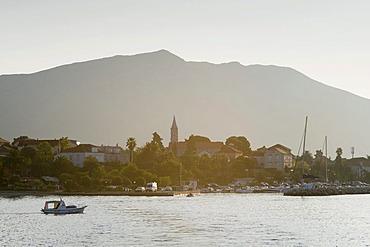 Village of Orebic at dawn, Peljesac Peninsula, Dalmatia, Croatia, Europe