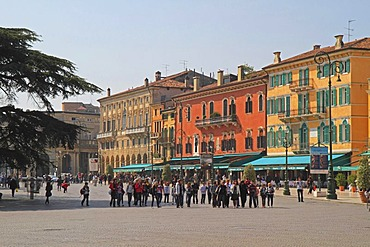 Piazza Bra square, Verona, Veneto region, Italy, Europe