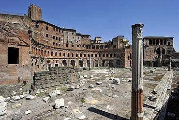 Trajan's Market with a militia tower, Torre delle Milizie, and the House of the Knights of Rhodes or the Knights of Malta, Via Alessandrina, Rome, Lazio, Italy, Europe