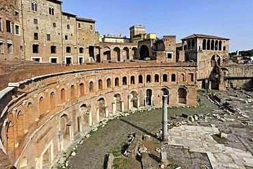 Trajan's Market, Torre del Grillo, House of the Knights of Rhodes or the Knights of Malta, Via Alessandrina, Via dei Fori Imperiali, Rome, Lazio, Italy, Europe