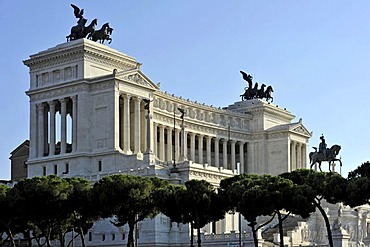 National Memorial to King Vittorio Emanuele II, Vittoriano or Altare della Patria, Rome, Lazio, Italy, Europe