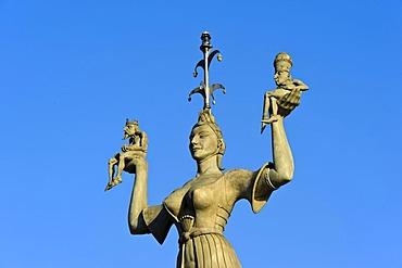 Sculpture of Imperia by Peter Lenk, Konstanz, Baden-Wuerttemberg, Germany, Europe