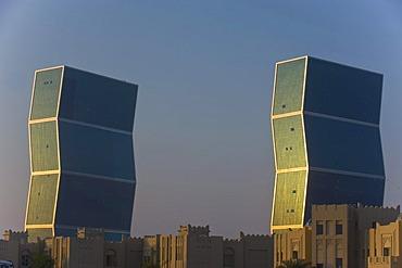 Zig-Zag Towers, Doha, Qatar, Arabian Peninsula, Middle East