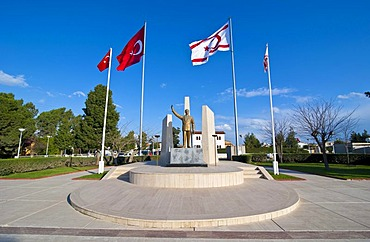 Monument for Mustafa Kemal Atatuerk, Turkish part of Cyprus