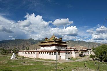 Tibetan Buddhism, central temple, Uetse, Samye Monastery, Himalaya Range, Central Tibet, Ue-Tsang, Tibet Autonomous Region, People's Republic of China, Asia
