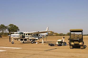 Sefofane flight to Kalamu Tented Camp, South Luangwa National Park, Zambia, Africa