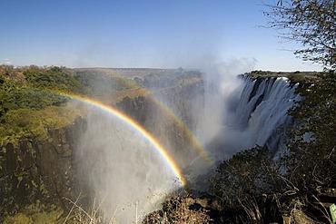 Victoria Falls, rainbows, Zambesi River, Zambia, Africa