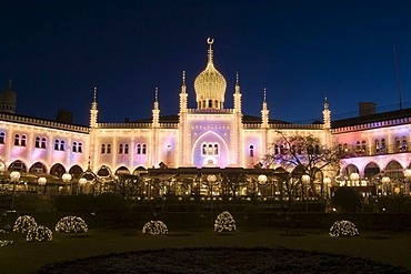 Tivoli amusement park at Christmas, Copenhagen, Denmark, Europe