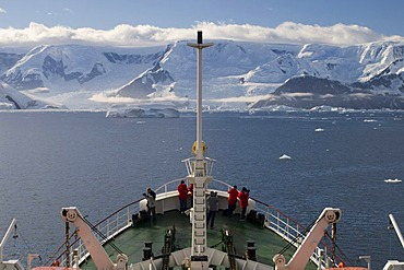 Antarctic Dream ship, Gerlache strait, Antarctic Peninsula, Antarctica