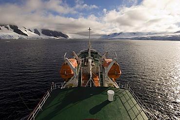 Antarctic Dream ship, Neumayer Channel, Antarctic Peninsula, Antarctica