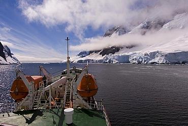 Antarctic Dream ship, Lemaire Channel, Antarctic Peninsula, Antarctica