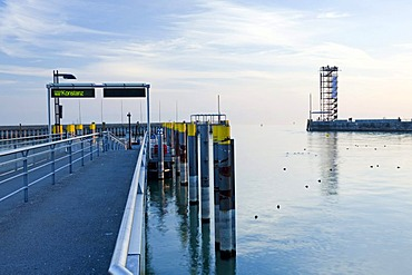 Tower in the port of Friedrichshafen, Lake Constance, Baden-Wuerttemberg, Germany, Europe