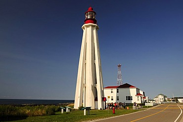 Pointe-au-Pere lighthouse, Bas-Saint-Laurent region, Gaspe Peninsula, Gaspesie, Quebec, Canada