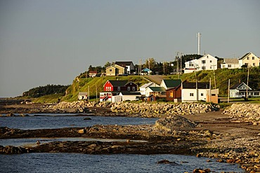 Grosses-Roches, a village on the banks of the St. Lawrence River, Gaspe Peninsula, Gaspesie, Quebec, Canada
