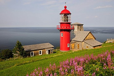Lighthouse Point a la Renommee, Gaspesie or Gaspe Peninsula, Quebec, Canada