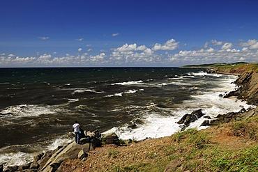 Rocky Atlantic coast in the west of Cape Breton, Nova Scotia, Canada, North America