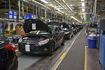 The 2012 Ford Focus at Ford Motor Co.'s Michigan Assembly Plant, Wayne, Michigan, USA, America