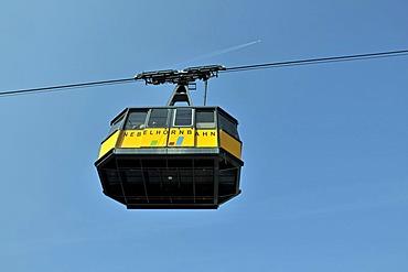 Cabin of the Nebelhornbahn cable car, Mt. Nebelhorn, Oberstdorf, Allgaeu Alps, Oberallgaeu, Bavaria, Germany, Europe