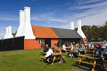 Herring smokehouse in a museum, Hasle, Bornholm, Denmark, Europe