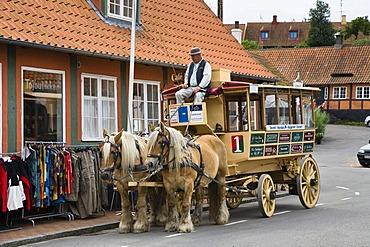 Horse and cart, Svaneke, Bornholm, Denmark, Europe