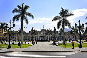 Government Palace at the Plaza Mayor or Plaza de Armas, Lima, UNESCO World Heritage Site, Peru, South America