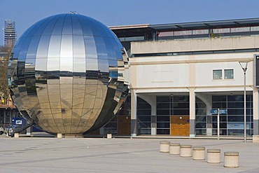 Millennium Square with Planetarium, @Bristol, At-Bristol, Harbourside, Canon's Wharf, Bristol, Gloucestershire, England, United Kingdom, Europe
