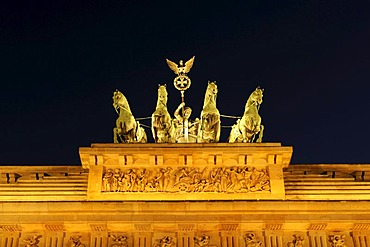 The Quadriga on the Brandenburg Gate in Berlin, Germany, Europe