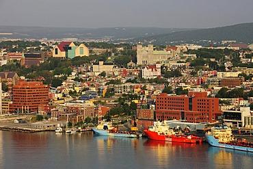 St. John's, the capital of Newfoundland as viewed from Signal Hill, St. John's, Newfoundland, Canada, North America
