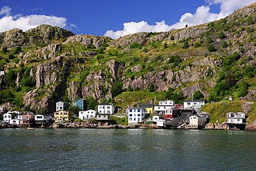 The Signal Hill neighborhood at the port of St. John's, the capital of Newfoundland, Canada, North America