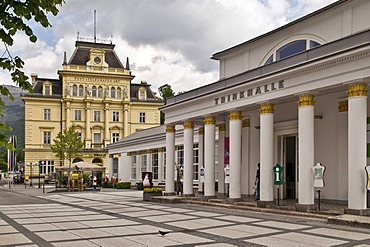 Pump room and historic buildings, Bad Ischl, Salzburg, Austria, Europe