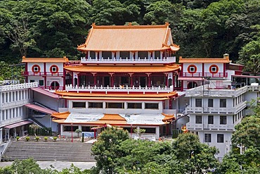 Buddhist temple complex in Taroko Gorge National Park near Hualien, Taiwan, China, Asia