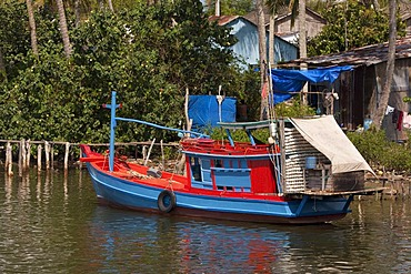 Fishing boat on the island of Phu Quoc, Vietnam, Asia