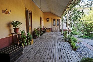Patio, veranda, El Solar de los Madariaga, traditional residence, museum, birthplace, Vicuna, Valle d'Elqui, Elqui Valley, La Serena, Norte Chico, northern Chile, Chile, South America