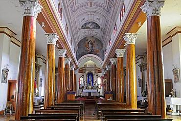 Pillars, church, Vicuna, Valle d'Elqui, Elqui Valley, La Serena, Norte Chico, northern Chile, Chile, South America