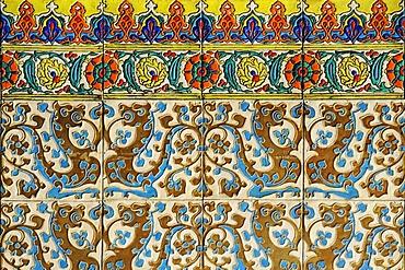 Club Espanol, Spanish Club, casino, restaurant, historic building, Spanish tiles, Moorish style, Plaza Arturo Prat square, Iquique, Norte Grande, Northern Chile, Chile, South America