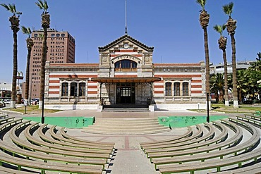 Amphitheater, old customs office, culture office, architect Gustave Eiffel, Arica, Norte Grande, northern Chile, Chile, South America
