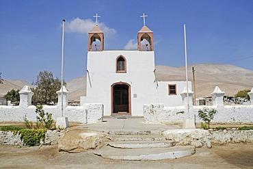 San Jeronimo, church, Poconchile village, Atacama Desert, Arica, Norte Grande, northern Chile, Chile, South America