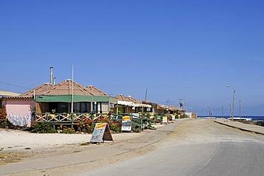 Restaurants, seafront promenade, Los Vilos, Pichidangui, small seaside resort, Norte Chico, northern Chile, Chile, South America