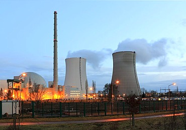 Nuclear power plant Philipsburg, Baden-Wuerttemberg, Germany, Europe