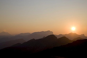 Formentor at sunset, Majorca, Balearic Islands, Spain, Europe
