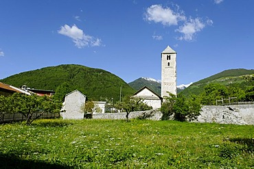 Saint Benedikt, San Benedetto, Mals, Vinschgau, Val Venosta, South Tyrol, Italy, Europe
